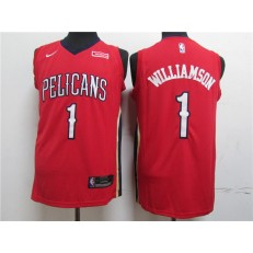 New Orleans Pelicans #1 Zion Williamson Red Nike Swingman Jersey