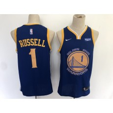 Washington Warriors #1 D angelo Russell Navy City Edition Nike Swingman Jersey