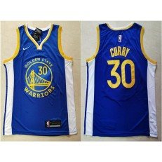Washington Warriors #30 Stephen Curry Blue Nike Swingman Jersey