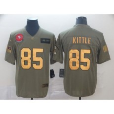 San Francisco 49ers #85 George Kittle 2019 Olive Gold Salute To Service Limited Nike NFL Men Jersey
