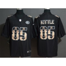San Francisco 49ers #85 George Kittle Black Statue Of Liberty Limited Nike NFL Men Jersey