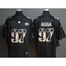 San Francisco 49ers #97 Nick Bosa Black Statue Of Liberty Limited Nike NFL Men Jersey
