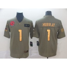 Arizona Cardinals #1 Kyler Murray 2019 Olive Gold Salute To Service Limited Nike NFL Men Jersey