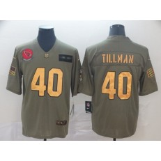 Arizona Cardinals #40 Pat Tillman 2019 Olive Gold Salute To Service Limited Nike NFL Men Jersey