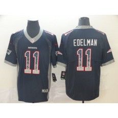 New England Patriots #11 Julian Edelman Navy Drift Fashion Limited Nike NFL Men Jersey