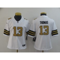 Women Nike New Orleans Saints #13 Michael Thomas White Color Rush Limited Jersey