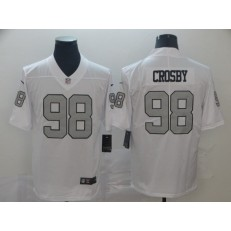 Oakland Raiders #98 Maxx Crosby White Color Rush Limited Nike NFL Men Jersey