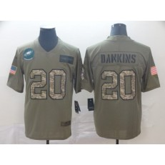 Philadelphia Eagles #20 Brian Dawkins 2019 Olive Camo Salute To Service Limited Nike NFL Men Jersey