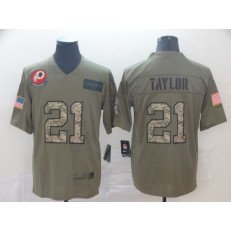 Washington Redskins #21 Sean Taylor 2019 Olive Camo Gold Salute To Service Limited Nike NFL Men Jersey