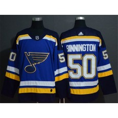 St.Louis Blues #50 Jordan Binnington Blue Adidas Jersey