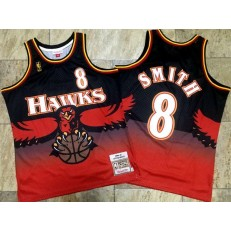 Atlanta Hawks #8 Steve Smith Red 1996-97 Hardwood Classics Jersey