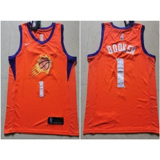 Phoenix Suns #1 Devin Booker Orange Nike Swingman Jersey
