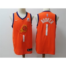 Phoenix Suns #1 Devin Booker Orange Nike Swingman Jerseys