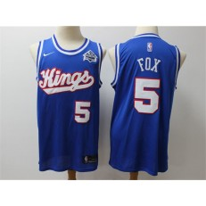 Sacramento Kings #5 De Aaron Fox Blue Nike Swingman Jersey
