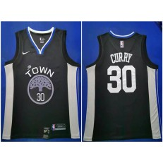 Washington Warriors #30 Stephen Curry Black 2019-20 City Edition Nike Swingman Jersey