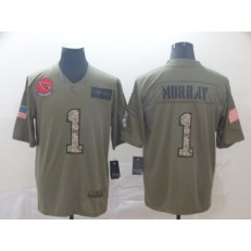 Arizona Cardinals #1 Kyler Murray 2019 Olive Camo Salute To Service Limited Nike NFL Men Jersey
