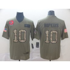 Houston Texans #10 DeAndre Hopkins 2019 Olive Camo Salute To Service Limited Nike NFL Men Jersey