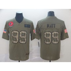 Houston Texans #99 J.J. Watt 2019 Olive Camo Salute To Service Limited Nike NFL Men Jersey