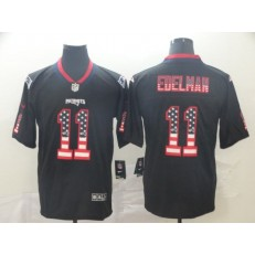 New England Patriots #11 Julian Edelman Black USA Flag Fashion Limited Nike NFL Men Jersey