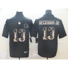 Cleveland Browns #13 Odell Beckham Jr. Black Statue Of Liberty Limited Nike NFL Men Jersey