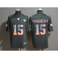 Jacksonville Jaguars #15 Gardner Minshew II 2019 Black Salute To Service USA Flag Fashion Limited Nike NFL Men Jersey