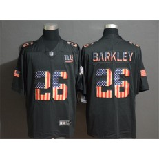 New York Giants #26 Saquon Barkley 2019 Black Salute To Service USA Flag Fashion Limited Nike NFL Men