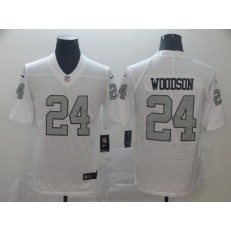 Oakland Raiders #24 Charles Woodson White Color Rush Limited Nike NFL Men Jersey