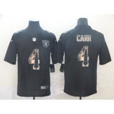 Oakland Raiders #4 Derek Carr Black Statue Of Liberty Limited Nike NFL Men Jersey