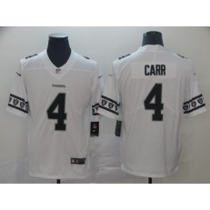 Oakland Raiders #4 Derek Carr White Team Logos Fashion Vapor Limited Nike NFL Men Jersey