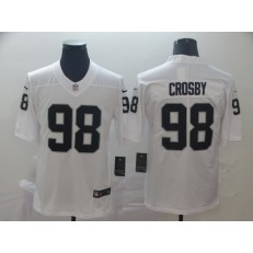 Oakland Raiders #98 Maxx Crosby White Vapor Untouchable Limited Nike NFL Men Jersey
