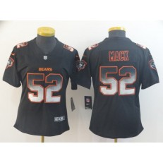 Women Nike Chicago Bears #52 Khalil Mack Black Arch Smoke Vapor Untouchable Limited Jersey