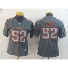 Women Nike Chicago Bears #52 Khalil Mack Gray Camo Vapor Untouchable Limited Jersey