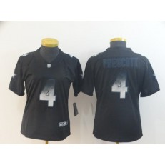 Women Nike Dallas Cowboys #4 Dak Prescott Black Arch Smoke Vapor Untouchable Limited Jersey