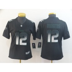 Women Nike New England Patriots #12 Tom Brady Black Arch Smoke Vapor Untouchable Limited Jersey