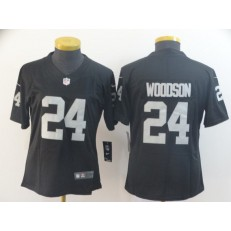 Women Nike Oakland Raiders #24 Charles Woodson Black Vapor Untouchable Limited Jersey