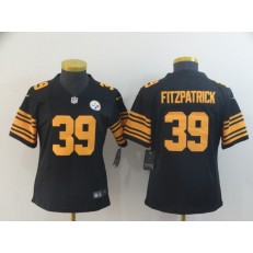 Women Nike Pittsburgh Steelers #39 Minkah Fitzpatrick Black Color Rush Limited Jersey