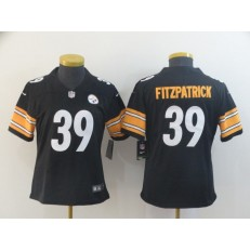 Women Nike Pittsburgh Steelers #39 Minkah Fitzpatrick Black Vapor Untouchable Limited Jersey
