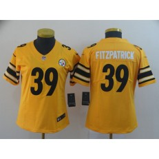 Women Nike Pittsburgh Steelers #39 Minkah Fitzpatrick Yellow Inverted Legend Limited Jersey