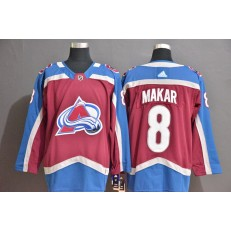 Colorado Avalanche #8 Cale Makar Blue Red Adidas Jersey