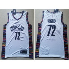 Brooklyn Nets #72 Biggie White 2019-20 City Edition Nike Swingman Jersey