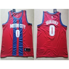 Detroit Pistons #0 Andre Drummond Red 2019-20 City Edition Nike Swingman Jersey