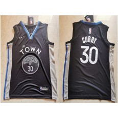 Golden State Warriors #30 Stephen Curry Black Youth 2019-20 City Edition Nike Swingman Jersey