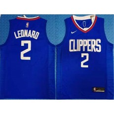 Los Angeles Clippers #2 Kawhi Leonard Blue Nike Swingman Jersey