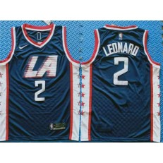 Los Angeles Clippers #2 Kawhi Leonard Navy City Edition Nike Swingman Jersey