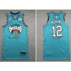 Memphis Grizzlies #12 Ja Morant Green Nike Authentic Jersey