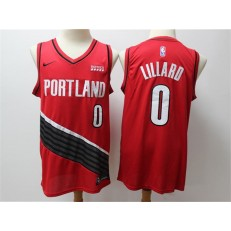 Portland Trail Blazers #0 Damian Lillard Red City Edition Nike Swingman Jersey