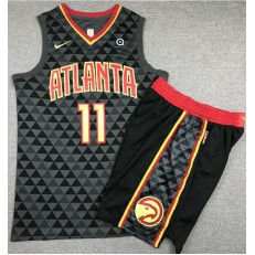 Atlanta Hawks #11 Trae Young Black Nike Swingman Jersey With Shorts