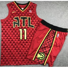 Atlanta Hawks #11 Trae Young Red Nike Swingman Jersey With Shorts