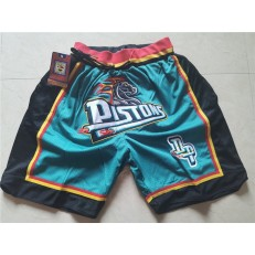 Detroit Pistons Green Pockets Just Don Mesh Shorts