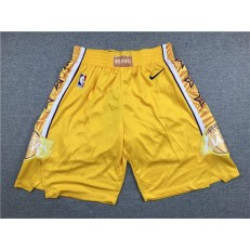 Los Angeles Lakers Yellow City Edition Nike Swingman Shorts